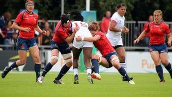 Rugby: las 'leonas' españolas María Ribera y Diana Gassó, las más placadoras del Mundial