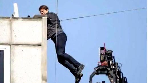 Durísimo golpe de Tom Cruise al grabar una escena de 'Misión imposible' (VÏDEO)
