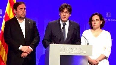 Atentados al margen, Puigdemont, insiste en su