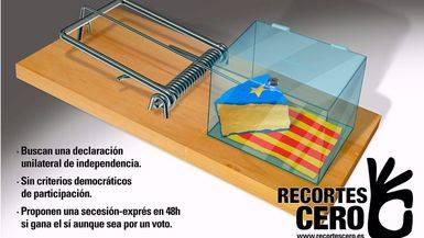 'Estafa antidemocrática': Recortes Cero lanza una campaña con carteles contrarios al 1-0