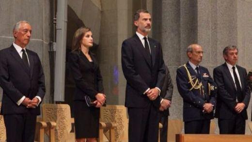 Reyes y autoridades participan en la misa por las víctimas de los atentados de Cataluña
