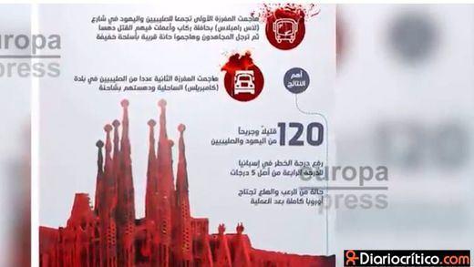 El Estado Islámico utiliza la Sagrada Familia en una infografía sobre los atentados de Cataluña