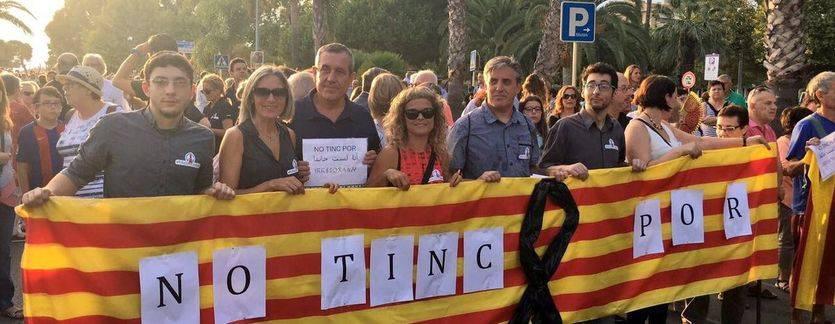 '¡No tengo miedo!': la manifestación de Barcelona, politizada y con una marcha alternativa catalanista