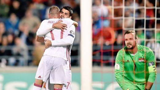 España abusa de Liechtenstein con un rotundo 0-8 para acercarse al Mundial