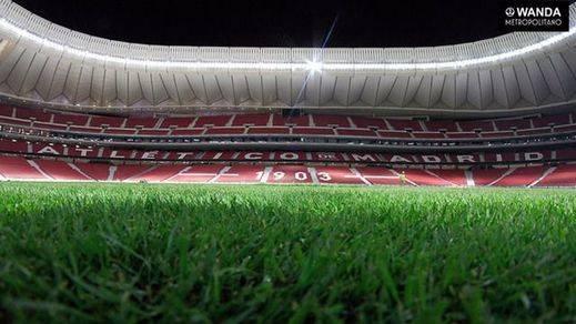 El Metropolitano ya tiene césped a 10 días del primer partido del Atlético