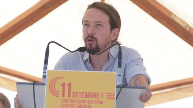 Iglesias insta a formar una 'amplia alianza' contra el PP para defender a Cataluña y a España