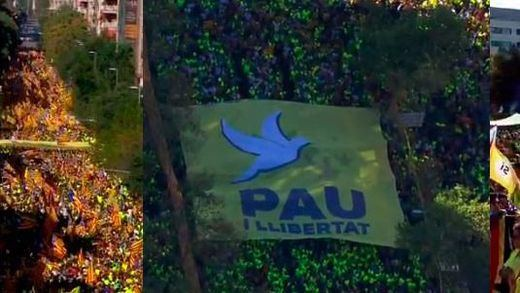 Baile de cifras sobre la manifestación independentista de la Diada en Barcelona