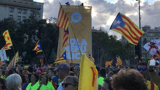 Apenas un millón de independentistas exigió en la calle imponer su referéndum