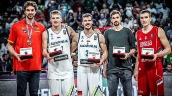 La Eslovenia de Doncic gana el Eurobasket y España despide a Navarro con un bronce