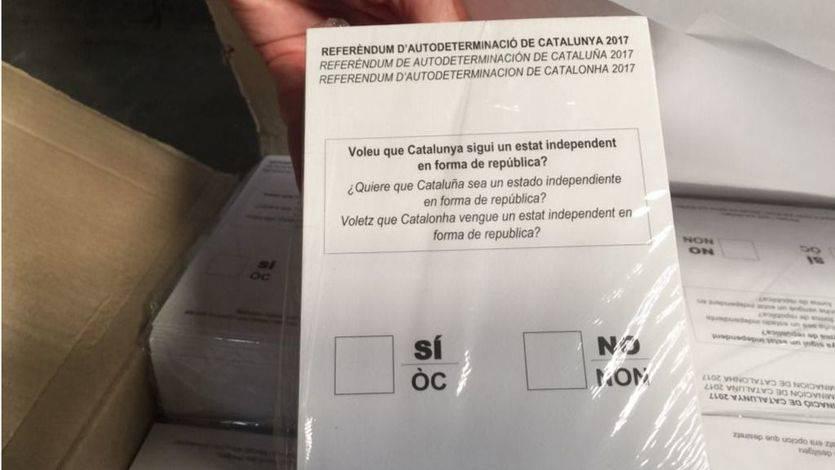 La Guardia Civil confisca casi 10 millones de papeletas para el referéndum catalán