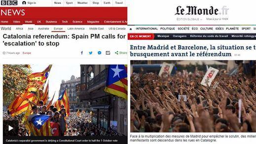 La prensa internacional, impactada con la situación de Cataluña