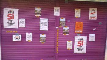 Independentistas radicales atacan el negocio de la familia de Albert Rivera en Granollers
