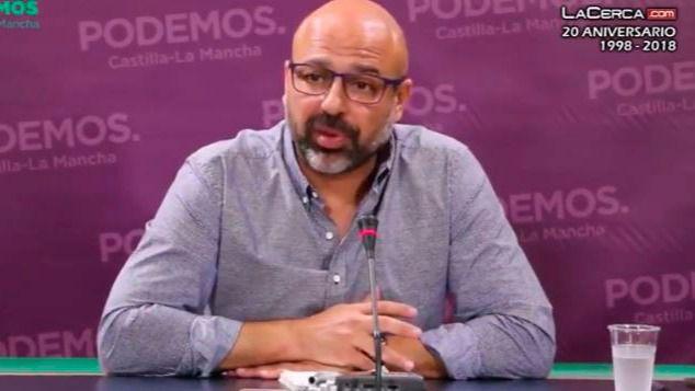 El secretario general de Podemos en Castilla-La Mancha, José García Molina