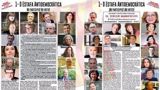 3.000 catalanes de izquierdas firman un manifiesto contra el referéndum