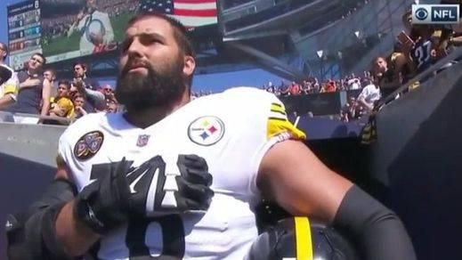 Alejandro Villanueva, el español que se hizo famoso por el gesto con el himno de EEUU, abochornado