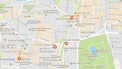 El mapa del 1-O en Madrid: concentraciones a favor y en contra del referéndum