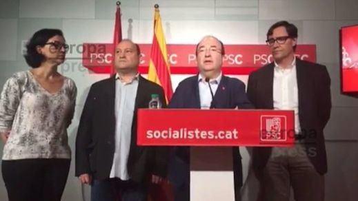 Iceta pide la dimisión de Puigdemont y Rajoy si no son capaces de dialogar