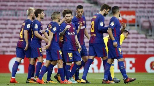 El Barça-Las Palmas de Liga se jugó a puerta cerrada (3-0)