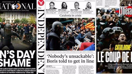 El mundo entero se avergüenza de la violencia ejercida en Cataluña durante el referéndum