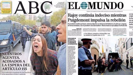 El catalanismo más radical copia los antiguos métodos de los proetarras: acoso a la Policía y Guardia Civil para que se retiren