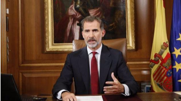 El Rey lanzó un mensaje para pedir orden y contundencia contra los separatistas