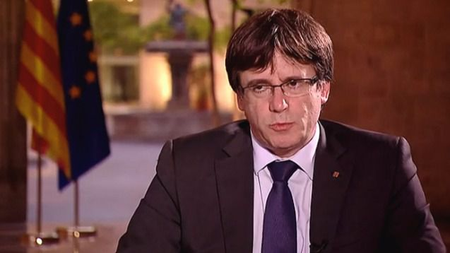 Puigdemont confirmó en una entrevista en la 'BBC' que se declarará la independencia esta semana
