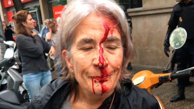 Cargas policiales el 1-O en Cataluña