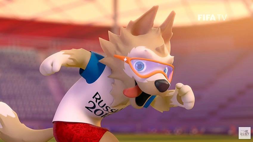 La mascota del Mundial de fútbol de Rusia 2018, el lobo ...