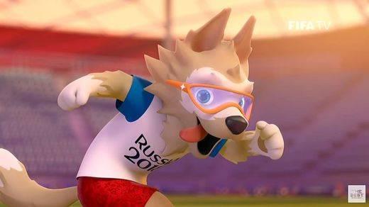 La mascota del Mundial de fútbol de Rusia 2018, el lobo Zabivaka