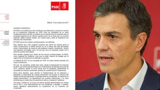 Sánchez se justifica por carta ante la militancia: