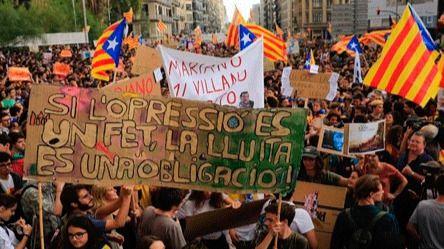 Hoy, huelga general de estudiantes en Cataluña contra 'la represión franquista y el 155'
