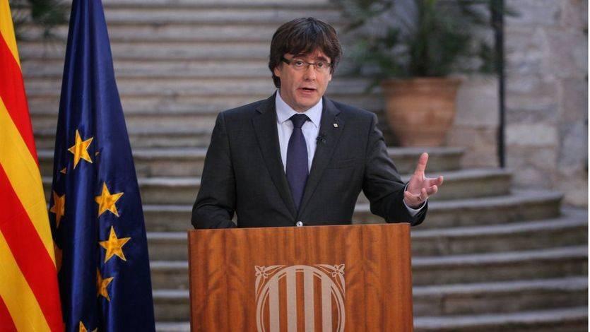 Puigdemont lanza un mensaje grabado en Girona donde no se declara en rebeldía