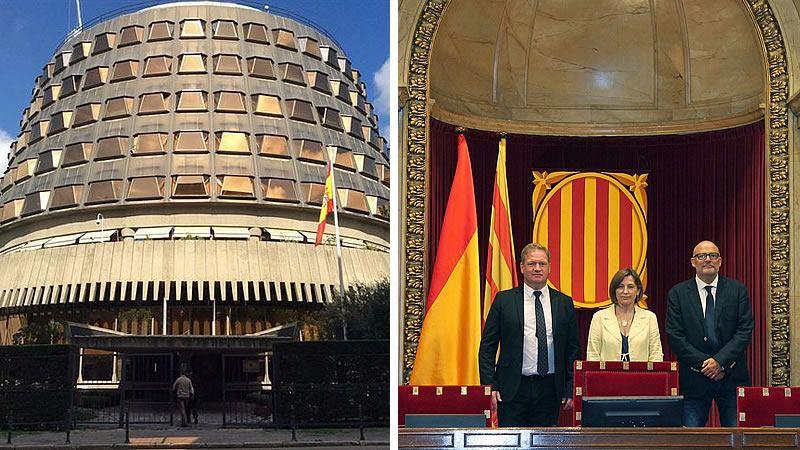 El Tribunal Constitucional suspende la declaración unilateral de independencia de Cataluña