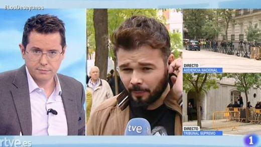 Terrible enganchada entre Rufián y Sergio Martín de los 'Desayunos de TVE'