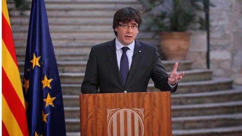 Puigdemont, en busca y captura por usar 'la fuerza intimidatoria y violenta' del independentismo en la insurrección