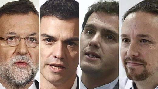 Valoración de líderes: Rajoy y Rivera mejoran, mientras caen Sánchez e Iglesias