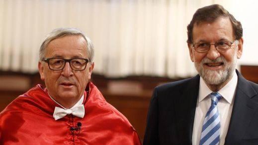 Rajoy presume ante Juncker de contar con el apoyo de todos los países de la UE en la crisis catalana
