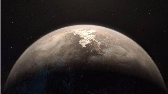 Ilustración del exoplaneta Ross 128 b que podría albergar vida