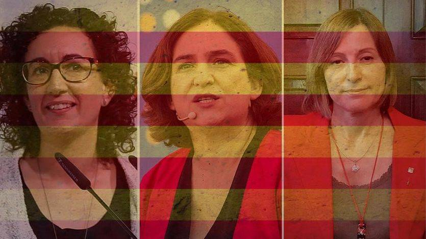 Mujeres al frente de la nueva Generalitat soberanista: Rovira, Colau y Forcadell, en primera línea
