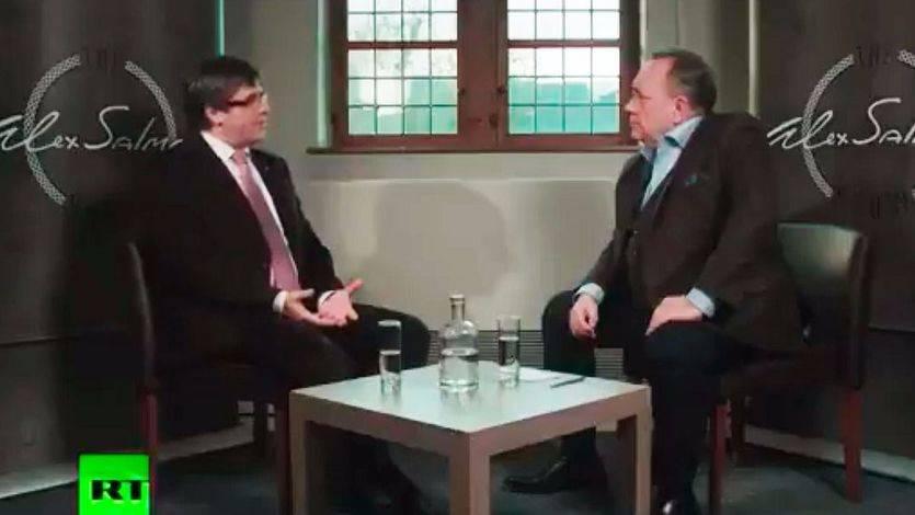 Carles Puigdemont en Russia Today