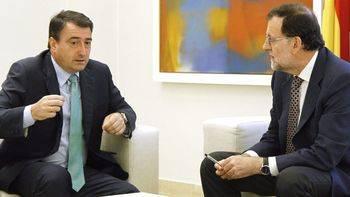 Aitor Esteban y Mariano Rajoy