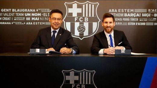 Messi vestirá la azulgrana hasta 2021: el Barça confirma que