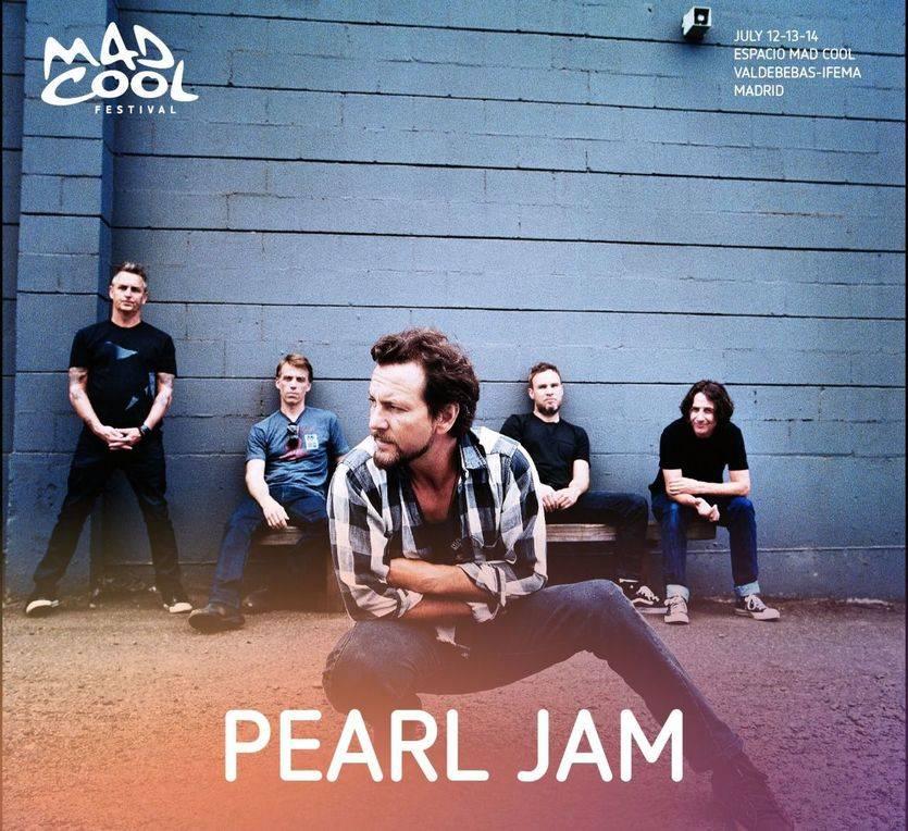 Pearl Jam volverán a España como parte del Mad Cool Festival 2018