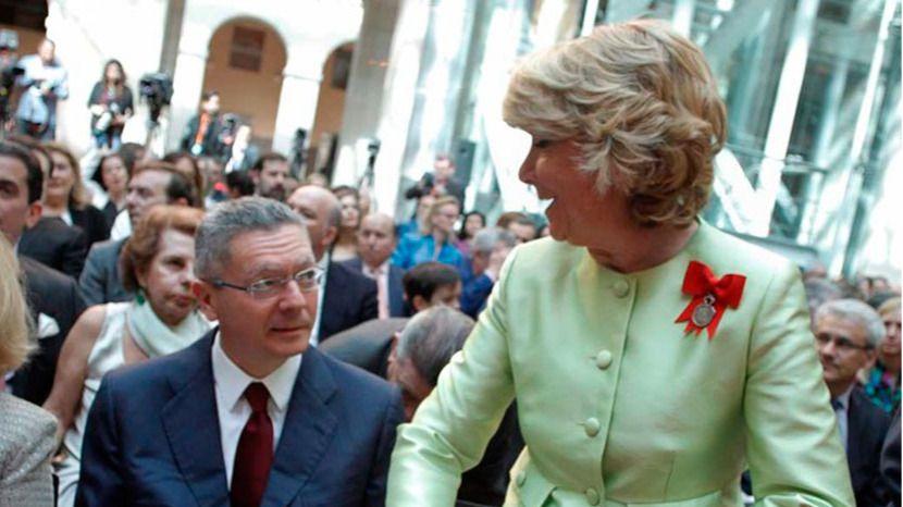 Alberto Ruiz-Gallardón y Esperanza Aguirre
