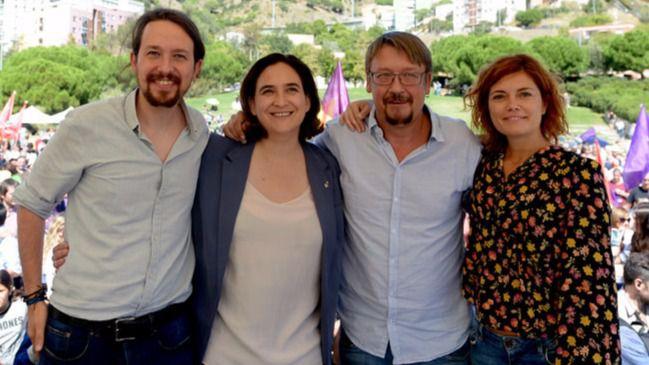 Colau, Domènech e Iglesias naufragan: su plan ambiguo se estanca en Cataluña