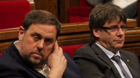 Puigdemont-Junqueras, comienza el pique por ser el número uno independentista
