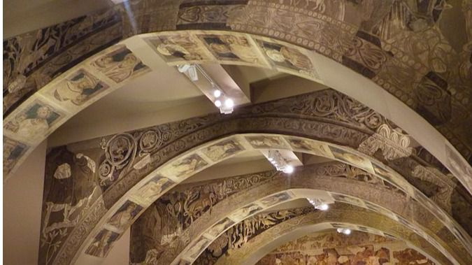 Pinturas procedentes de la sala capitular del Monasterio de Sijena en el MNAC