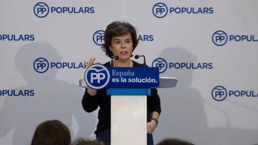Junts per Catalunya denunciará a Soraya Sáenz de Santamaría por prevaricación