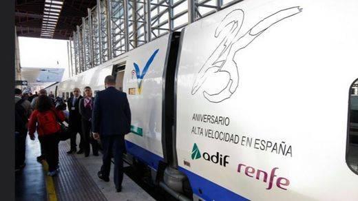 Renfe pone a la venta 50.000 billetes a 25 euros, para cerrar la campaña #25AniversarioAve