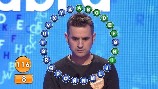 'Pasapalabra' vuelve a resolver su mágico rosco y Antonio Ruiz se lleva 1,16 millones de euros